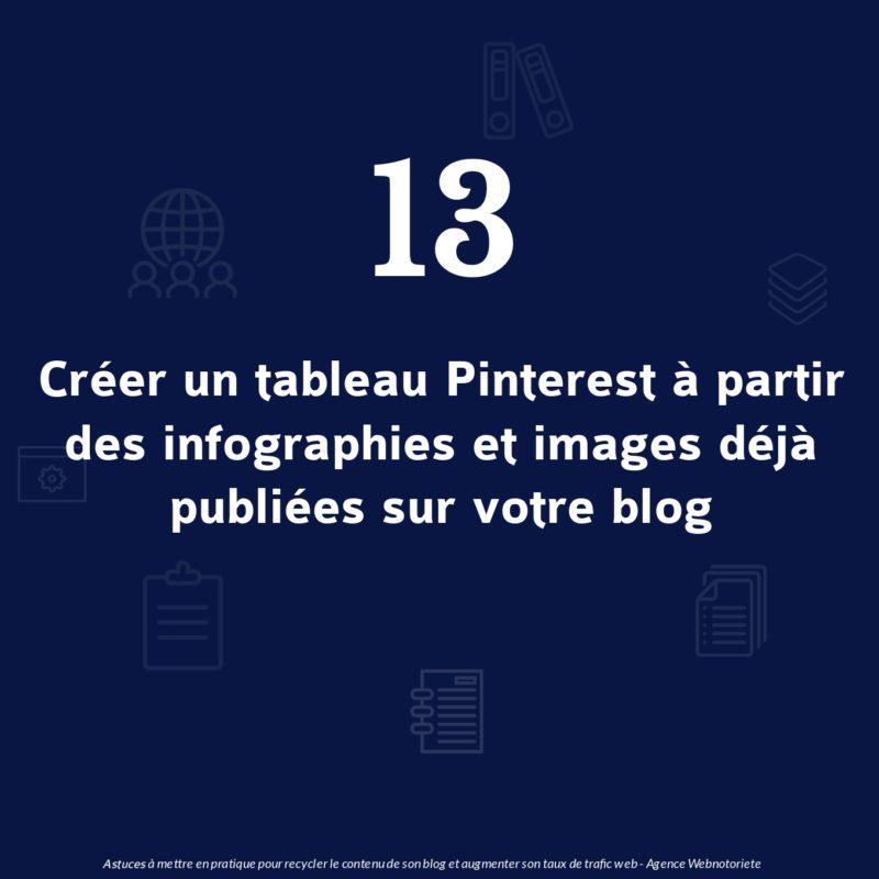 Astuce 13 : Créer un tableau Pinterest à partir des infographies et images déjà publiées sur votre blog