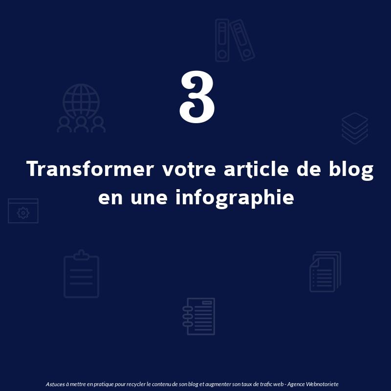 Astuce 3 : Transformer un article de blog en une infographie